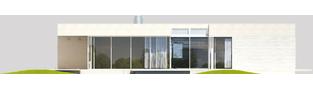 Projekt domu EX 6 (z wiatą) ENERGO PLUS - elewacja tylna