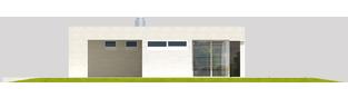 Projekt domu EX 6 (z wiatą) ENERGO PLUS - elewacja prawa
