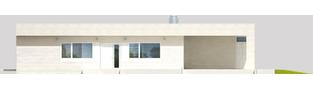 Projekt domu EX 6 (z wiatą) ENERGO PLUS - elewacja frontowa