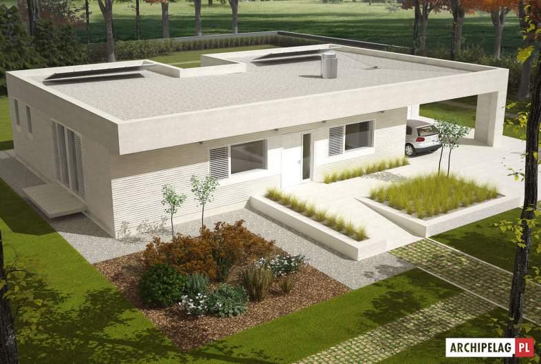 Projekt domu EX 6 (z wiatą) - widok z góry