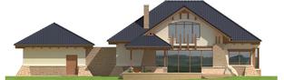 Projekt domu Edward G2 - elewacja tylna