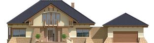 Projekt domu Edward G2 - elewacja frontowa