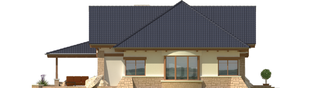 Projekt domu Edward G2 - elewacja lewa