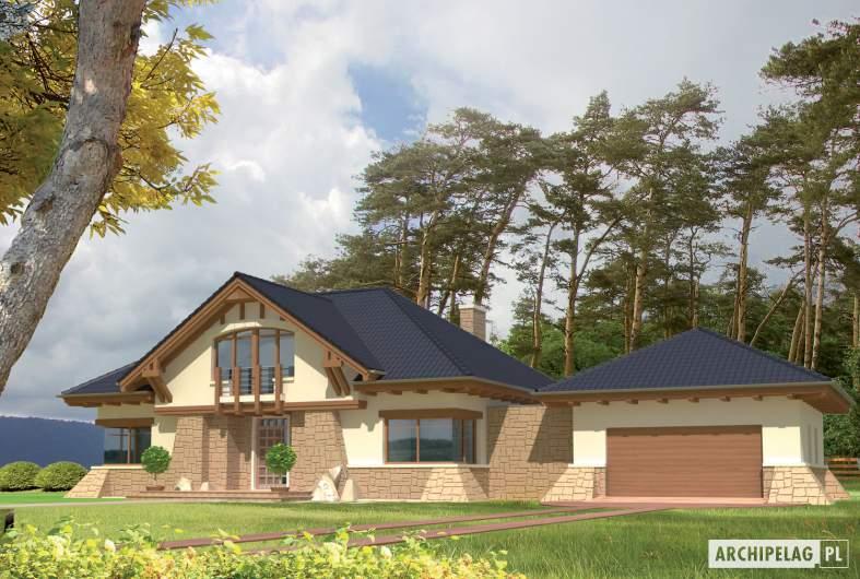 Projekt domu Edward G2 -wizualizacja frontowa