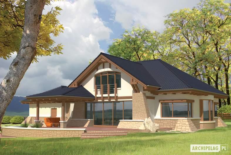 Projekt domu Edward G2 -wizualizacja ogrodowa