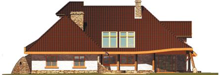 Казя II (Г2) - Projekt domu Kazia II G2 - elewacja lewa