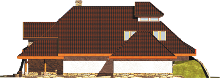 Казя II (Г2) - Projekt domu Kazia II G2 - elewacja prawa