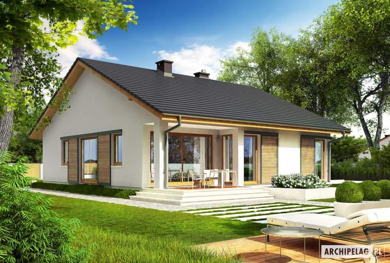 Projekt domu Rafael IV G1 (30 stopni) - wizualizacja ogrodowa