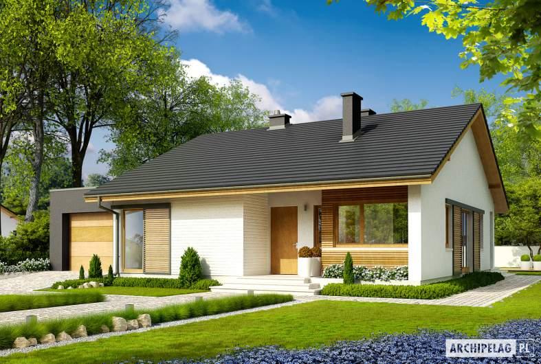 Projekt domu Rafael IV G1 (30 stopni) - wizualizacja frontowa