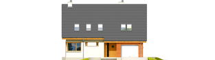 Projekt domu Tolek II G1 - elewacja frontowa