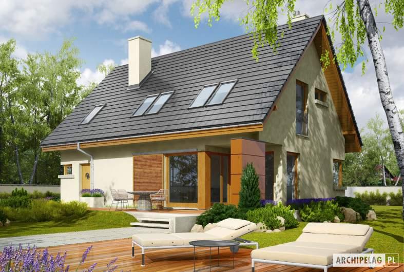 Projekt domu Tolek II G1 - wizualizacja ogrodowa