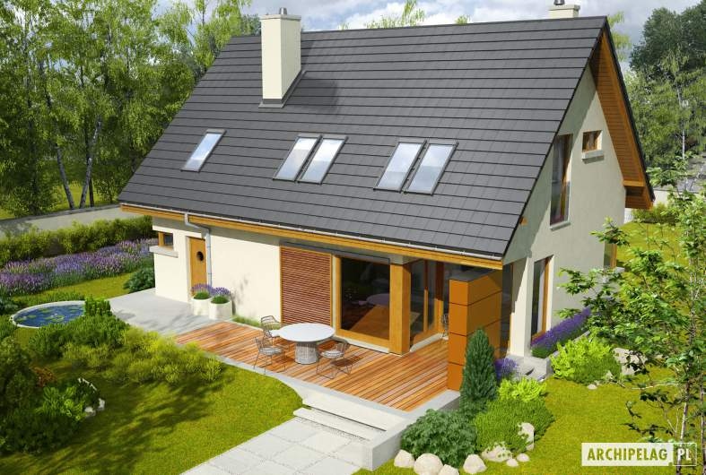 Projekt domu Tolek II G1 - widok z góry