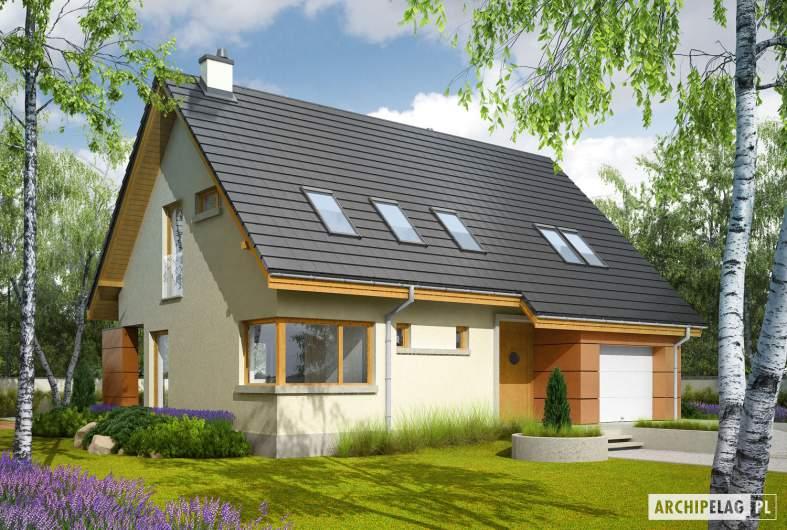 Projekt domu Tolek II G1 - wizualizacja frontowa