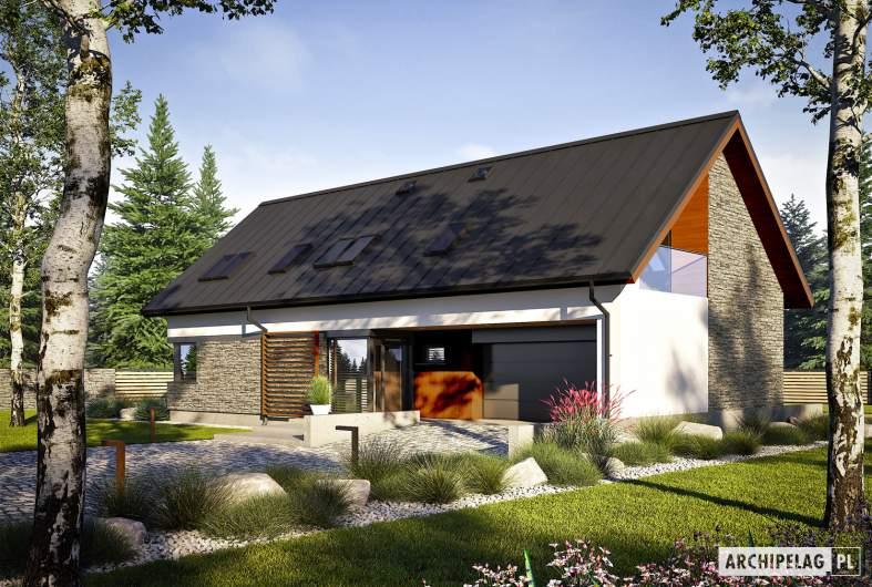 Projekt domu Nikolas II G2 ENERGO PLUS reco - wizualizacja frontowa