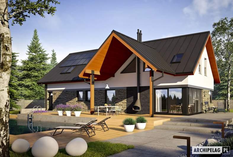 Projekt domu Nikolas II G2 ENERGO PLUS reco - wizualizacja ogrodowa