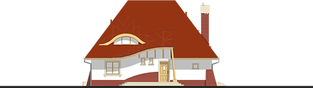 Projekt domu Mieszko II - elewacja frontowa