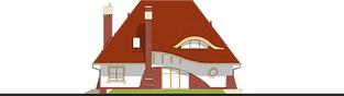 Projekt domu Mieszko II - elewacja tylna