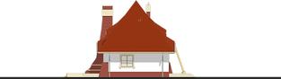 Projekt domu Mieszko II - elewacja lewa