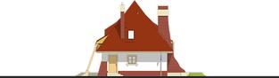 Projekt domu Mieszko II - elewacja prawa