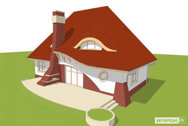 Projekt domu Mieszko II - Projekty domów ARCHIPELAG - Mieszko II -  widok z góry