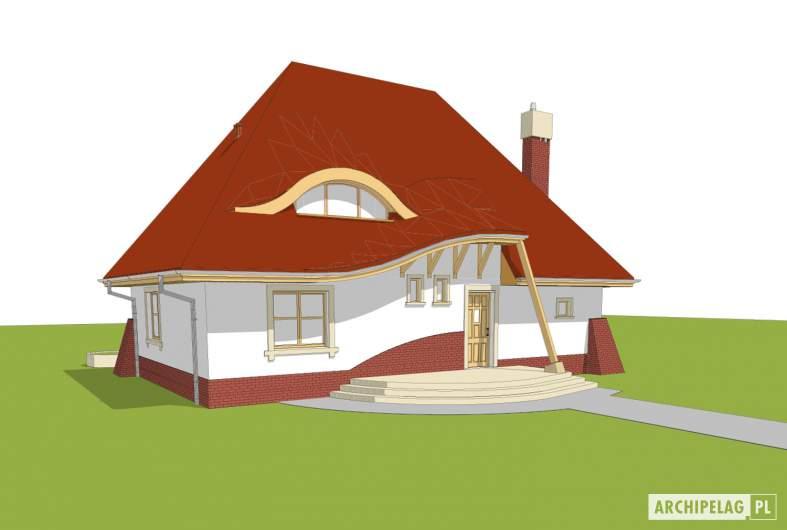 Projekt domu Mieszko II - Projekty domów ARCHIPELAG - Mieszko II - wizualizacja frontowa