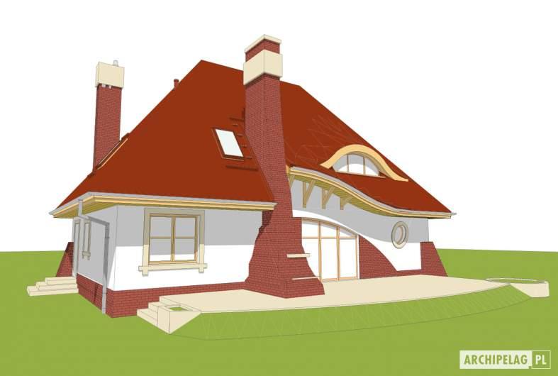 Projekt domu Mieszko II - Projekty domów ARCHIPELAG - Mieszko II - wizualizacja ogrodowa