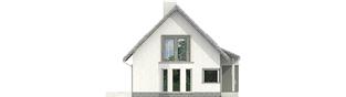 Projekt domu Kim (wersja B) - elewacja lewa