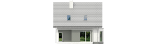 Projekt domu Kim (wersja B) - elewacja tylna