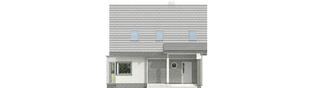 Projekt domu Kim (wersja B) - elewacja frontowa