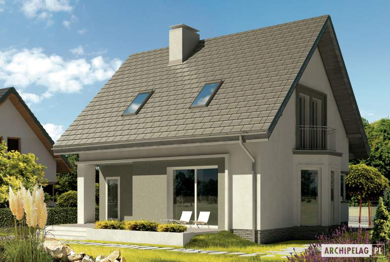 Projekt domu Kim (wersja B) - wizualizacja ogrodowa