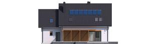 Projekt domu Katrina (mała) G1 - elewacja tylna