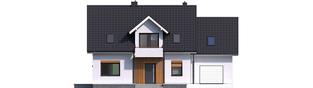 Projekt domu Katrina (mała) G1 - elewacja frontowa