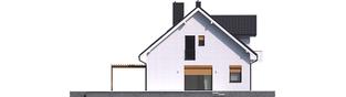 Projekt domu Katrina (mała) G1 - elewacja lewa