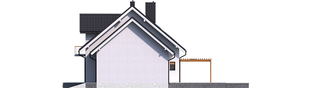 Projekt domu Katrina (mała) G1 - elewacja prawa