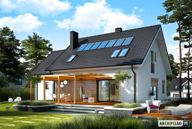 Projekt domu Katrina (mała) G1 - Projekty domów ARCHIPELAG - Katrina (mała) G1 - wizualizacja ogrodowa
