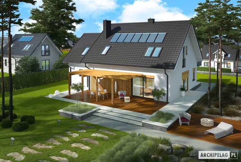 Projekt domu Katrina (mała) G1 - Projekty domów ARCHIPELAG - Katrina (mała) G1 - widok z góry