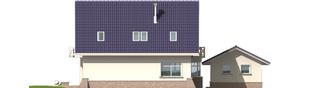 Projekt domu Janeczka G1 - elewacja tylna