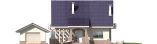 Projekt domu Janeczka G1 - elewacja frontowa
