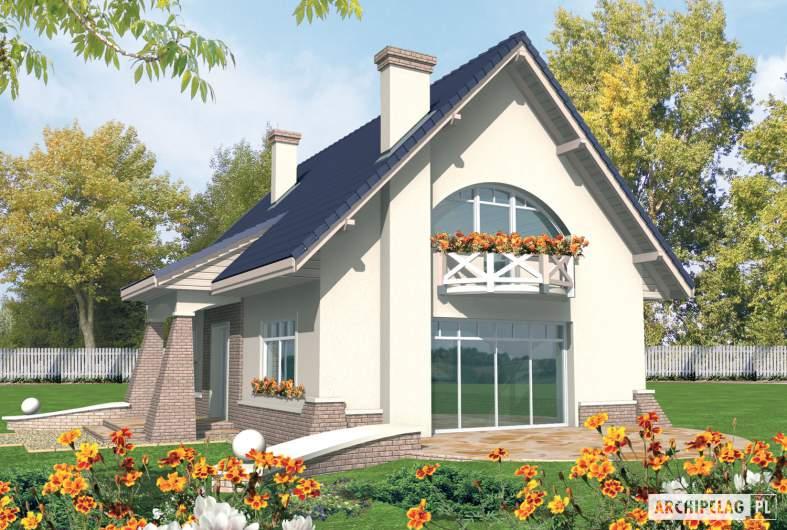 Projekt domu Janeczka G1 - Projekty domów ARCHIPELAG - Janeczka G1 - wizualizacja ogrodowa