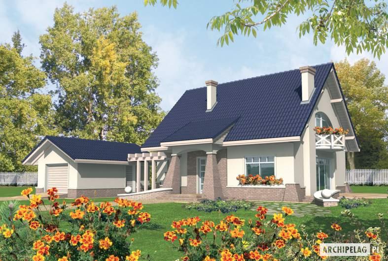 Projekt domu Janeczka G1 - Projekty domów ARCHIPELAG - Janeczka G1 - wizualizacja frontowa