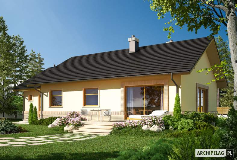 Projekt domu Erin II G1 MULTI-COMFORT - wizualizacja ogrodowa