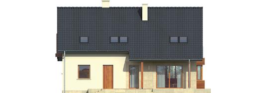 Robin G1 - Projekt domu Robin G1 - elewacja tylna