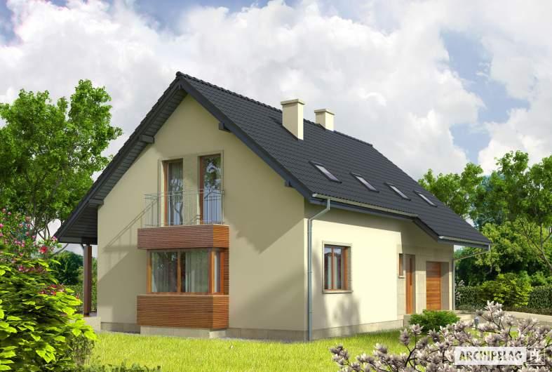 Projekt domu Robin G1 - wizualizacja frontowa lewa