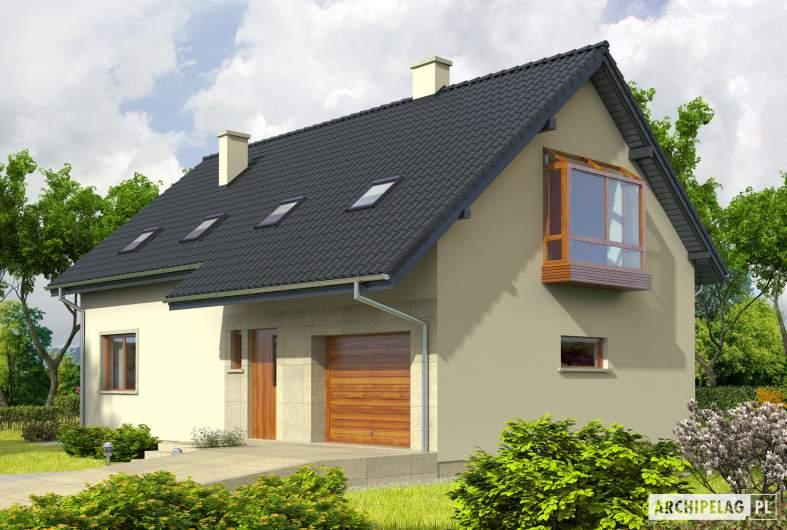 Projekt domu Robin G1 - wizualizacja frontowa