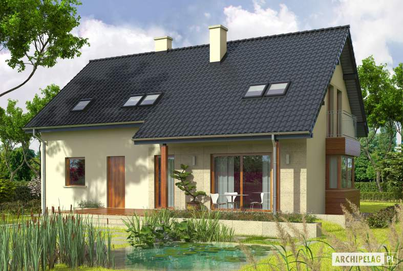 Projekt domu Robin G1 - wizualizacja ogrodowa