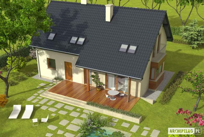 Projekt domu Robin G1 - widok z góry
