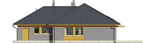 Projekt domu Dawid G1 - elewacja tylna