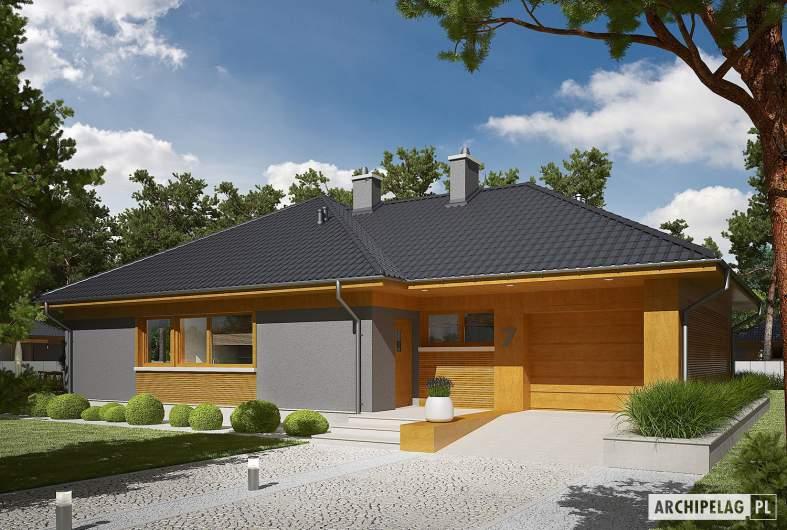 Projekt domu Dawid G1 - wizualizacja frontowa