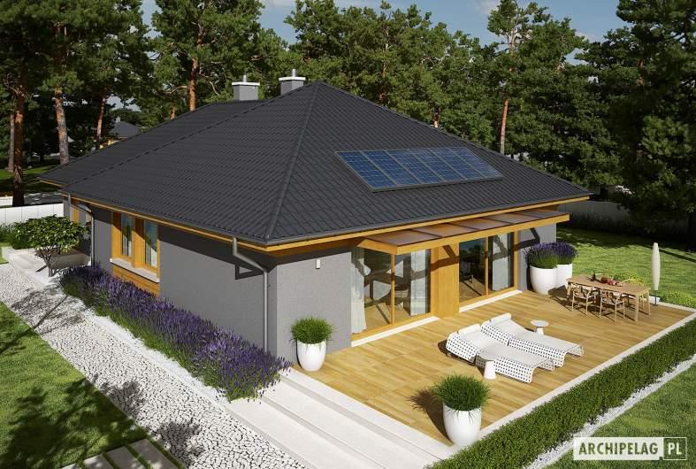 Projekt domu Dawid G1 - widok z góry