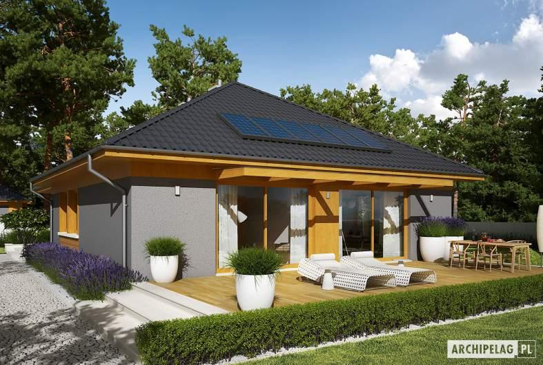 Projekt domu Dawid G1 - wizualizacja ogrodowa